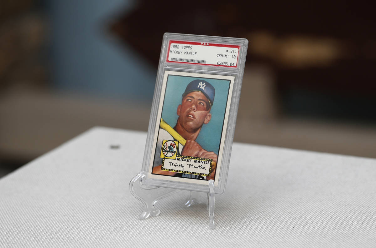 """The """"Holy Grail"""" of baseball cards, a 1952 Topps Mickey Mantle that is valued at more ..."""