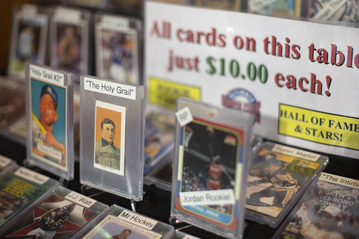 Sports cards are for sale at Ultimate Sports Cards and Memorabilia on Thursday, March 25, 2021, ...