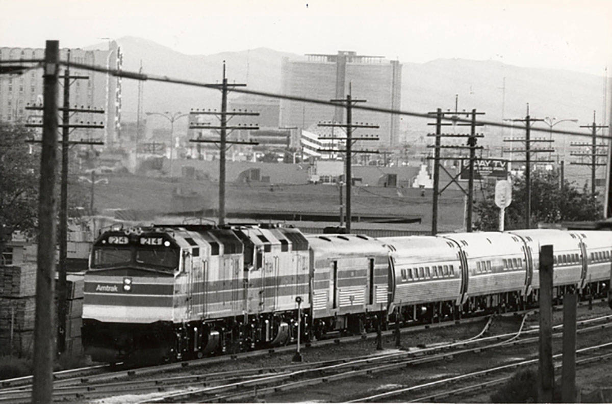 An Amtrak train is seen in this undated file photo. (Las Vegas Review-Journal, file)