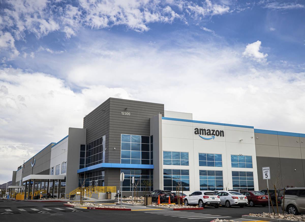 Amazon's facility at 12300 Bermuda Road on Thursday, April 1, 2021, in Henderson. (Benjamin H ...