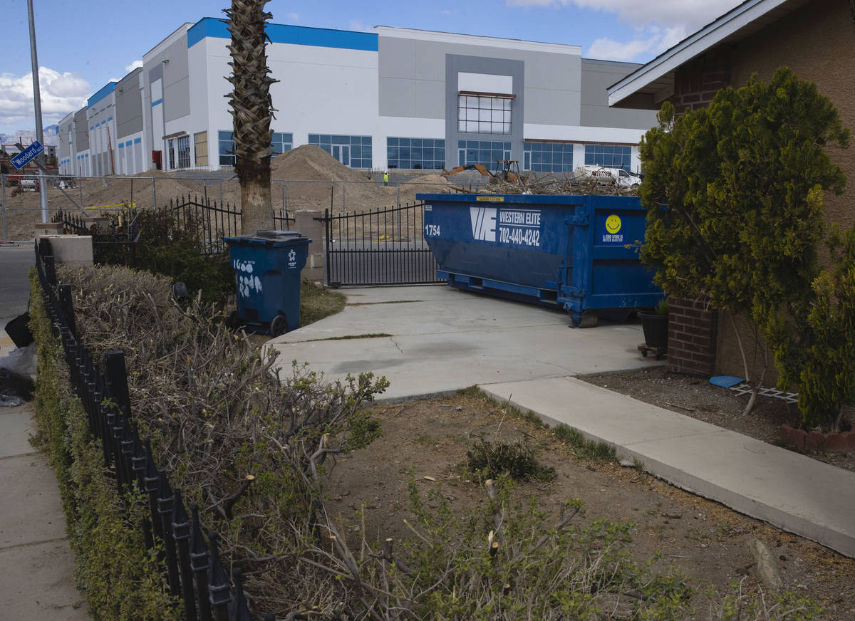 An industrial project on 650 E Owens Ave., photographed on Tuesday, March 23, 2021, in North La ...