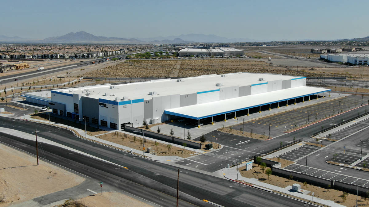 Amazon distribution center at the corner of St. Rose Parkway and Bermuda Road in Henderson, Nev ...