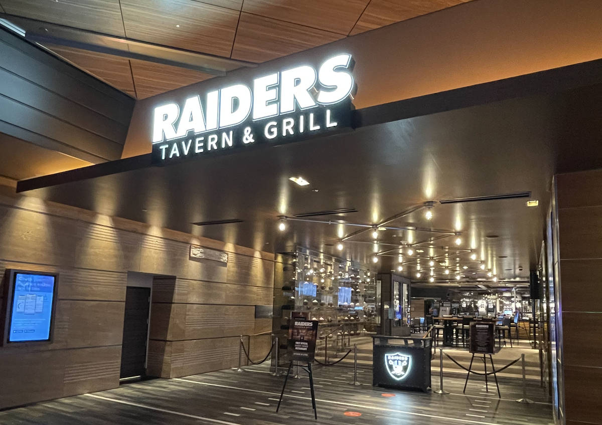 The Raiders Tavern & Grill entrance off the casino floor of the M Resort as seen on March , 29, ...