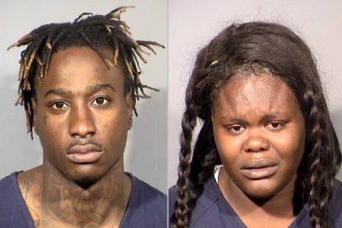 Phillips Nichols, 25, and Ledaxjia Montgomery, 19 (Las Vegas Metropolitan Police Department)