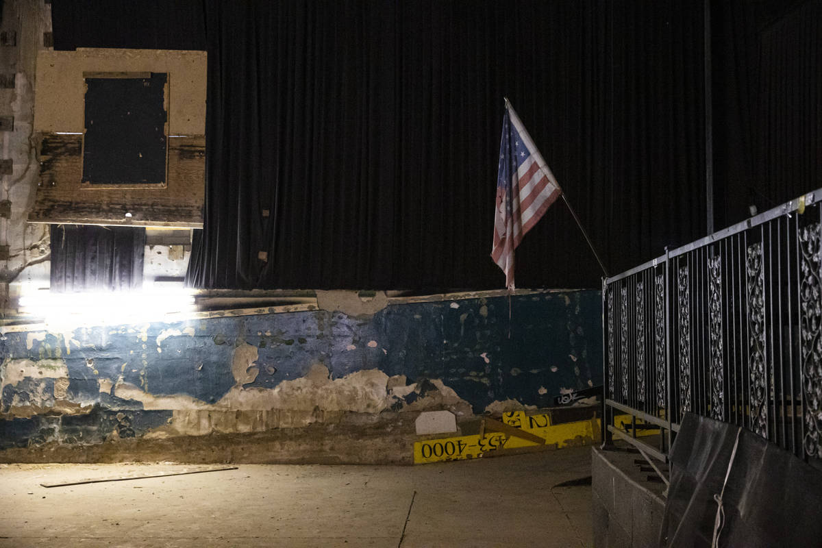 A view inside the Huntridge Theater the day after Dapper Companies founder and developer J Dapp ...