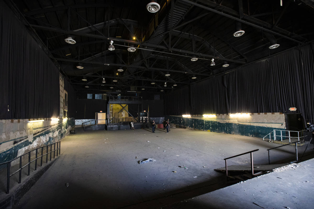 A view from the stage inside the Huntridge Theater the day after Dapper Companies founder and d ...