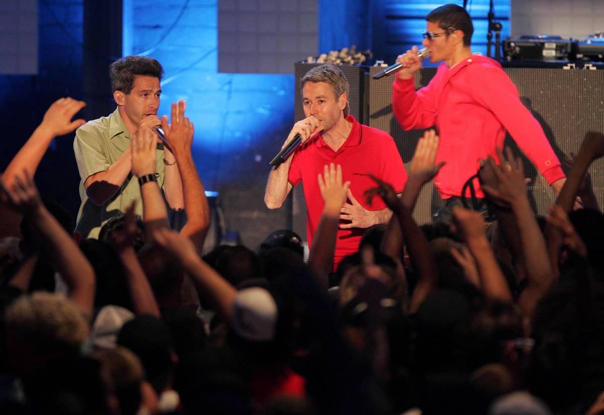 Members of the Beastie Boys, from left, Adam Horovitz, Adam Yauch and Michael Diamond perform ...
