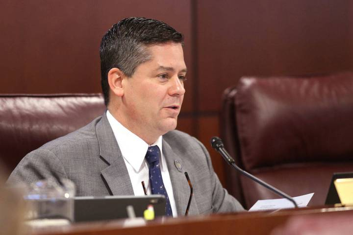 Assemblyman Steve Yeager, D-Las Vegas, leads an Assembly Judiciary Committee meeting in the Leg ...