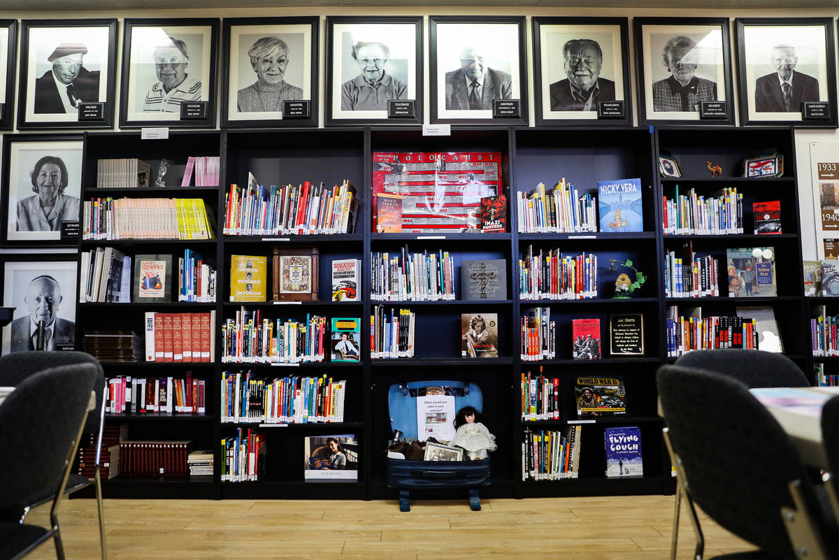 Educational resources fill a room that makes up the Sperling Kronberg Mack Holocaust Resource C ...