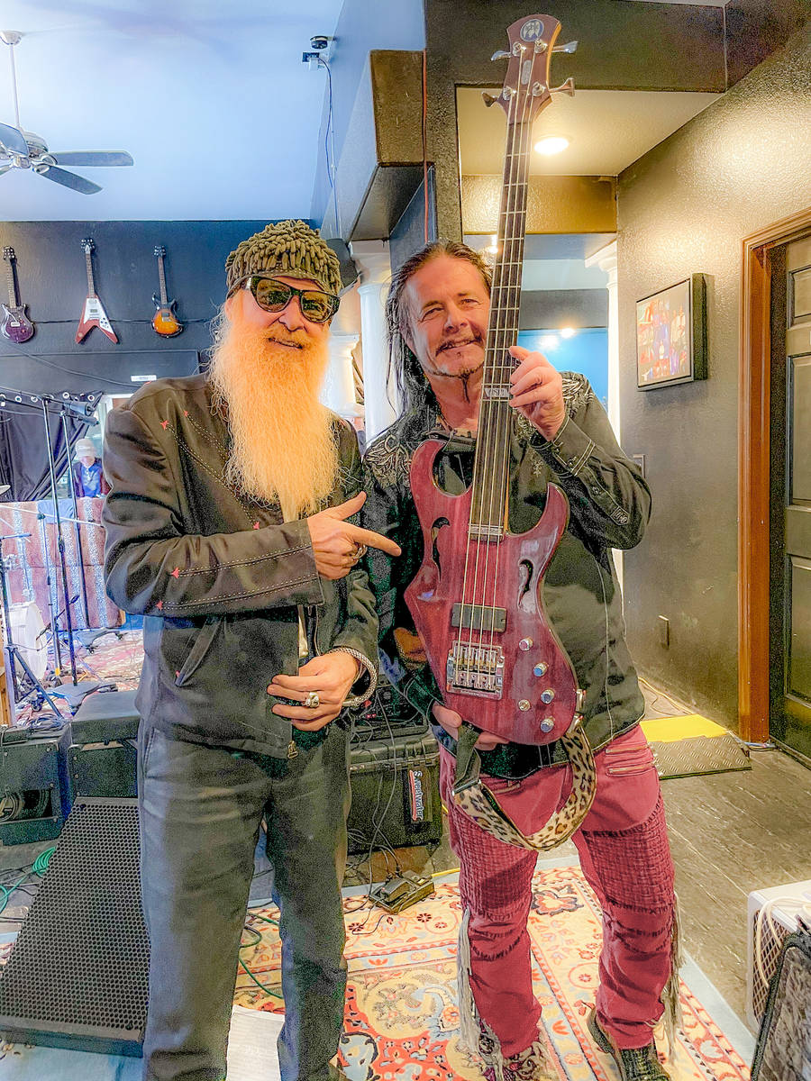 Billy Gibbons and John Payne are shown at Virgin Hotels in Dallas on Saturday, March 27, 2021. ...
