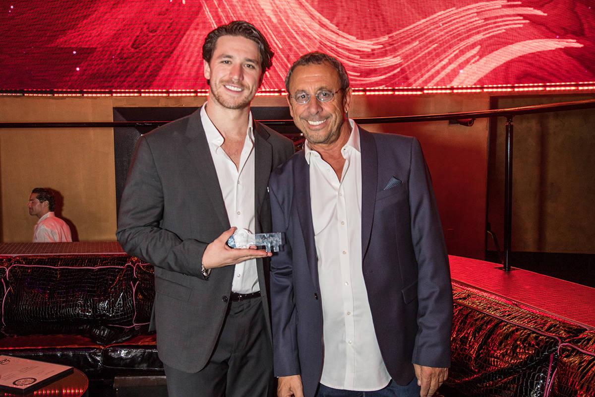 Dustin Drai and his father, Victor Drai, celebrate Drai's Nightclub's 20th anniversary in June ...