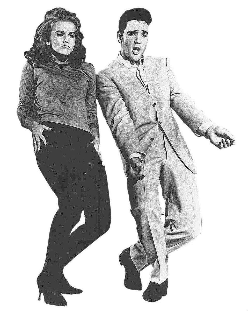 """Ann-Margret and Elvis Presley step out in the 1964 movie """"Viva Las Vegas."""" (AP Photo)"""