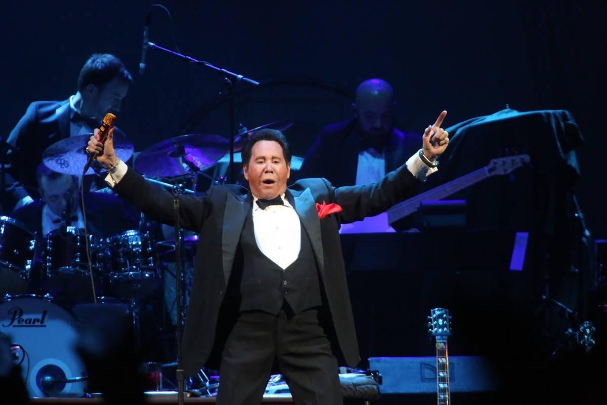 "Wayne Newton performs ""Viva Las Vegas"" on opening night at T-Mobile Arena in Las Vegas on Wedne ..."