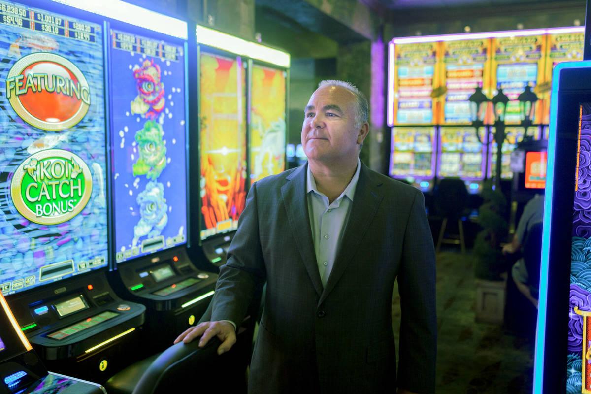 Emerald Island Casino Owner Tim Brooks inside of the Emerald Island Casino off South Water Stre ...