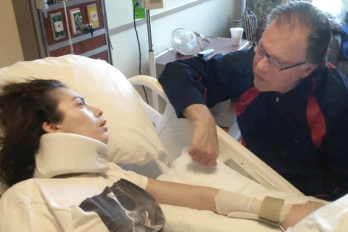 Chantel Giacalone is cared for by her father, Jack, in this undated photo. (Nettles Morris Law ...