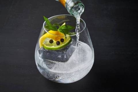 The Ultimate gin and tonic at Jaleo is made with Ultimate Hendrick's Gin, Fever-Tree Indian Ton ...