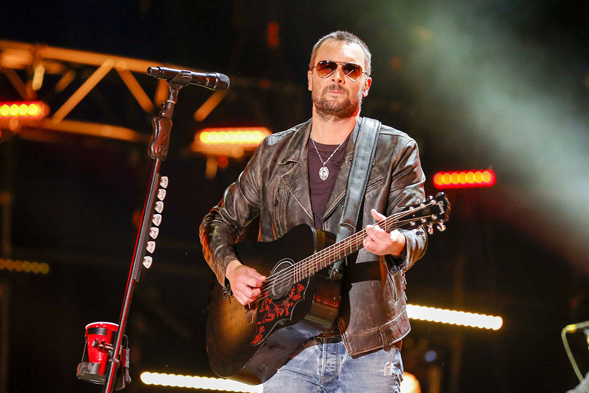 Eric Church performs at the CMA Music Festival at Nissan Stadium in Nashville, Tennessee, in 20 ...