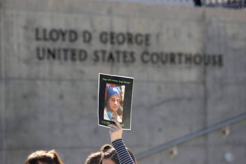 A photo of Jorge Gomez, a Black Lives Matter protester who was shot and killed by Las Vegas pol ...