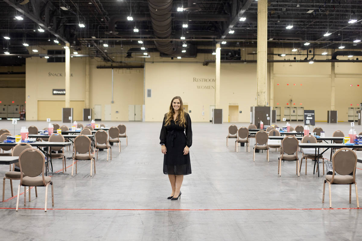 Ashley Eddy, senior vice president and legal counsel for MGM Resorts International, at MGM's ne ...