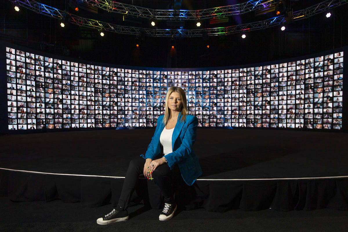 Marina Worre, CEO and founder of Worre Studios, at the studio on Friday, April 9, 2021, in Las ...