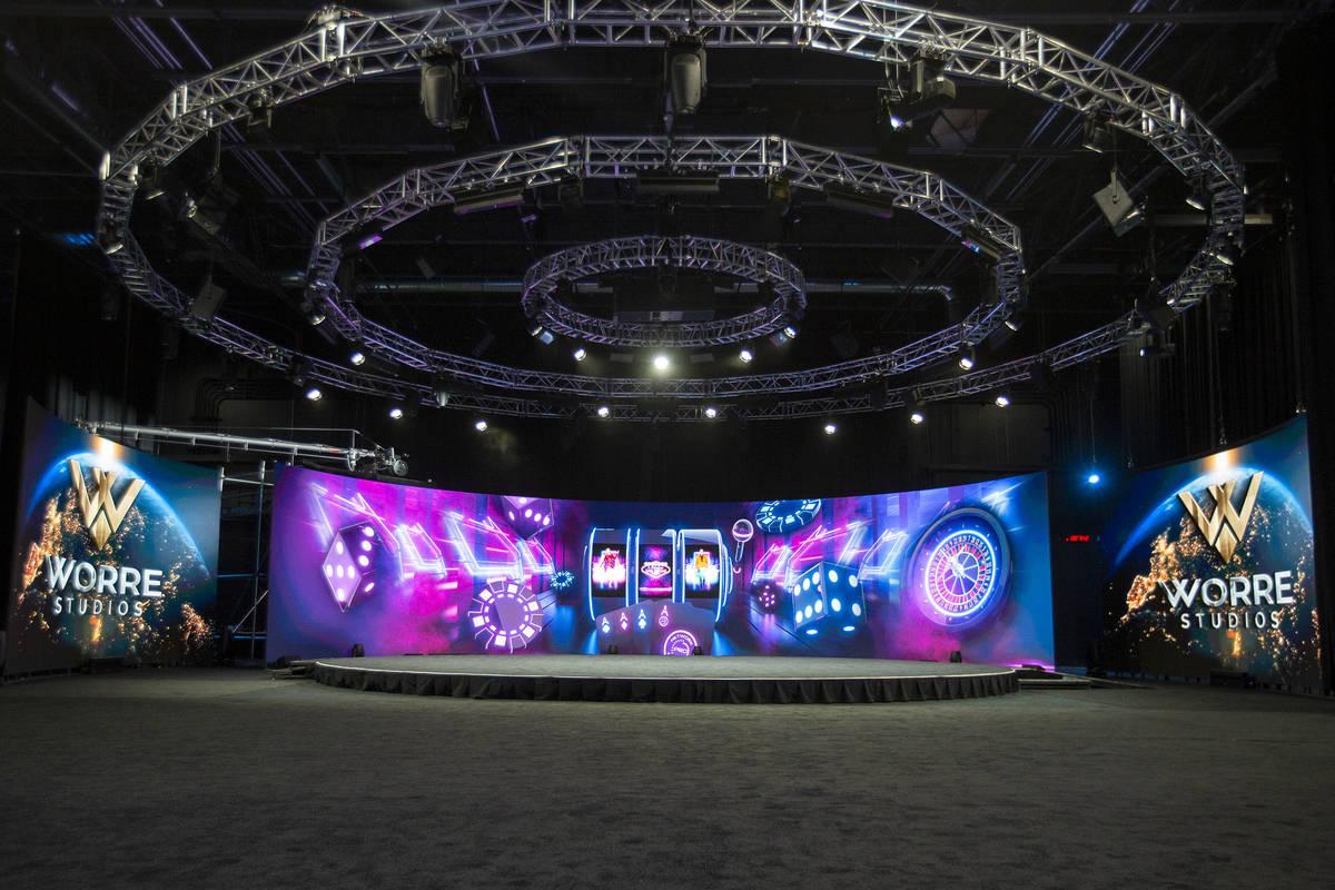 The event space at Worre Studios on Friday, April 9, 2021, in Las Vegas. (Ellen Schmidt/Las Veg ...