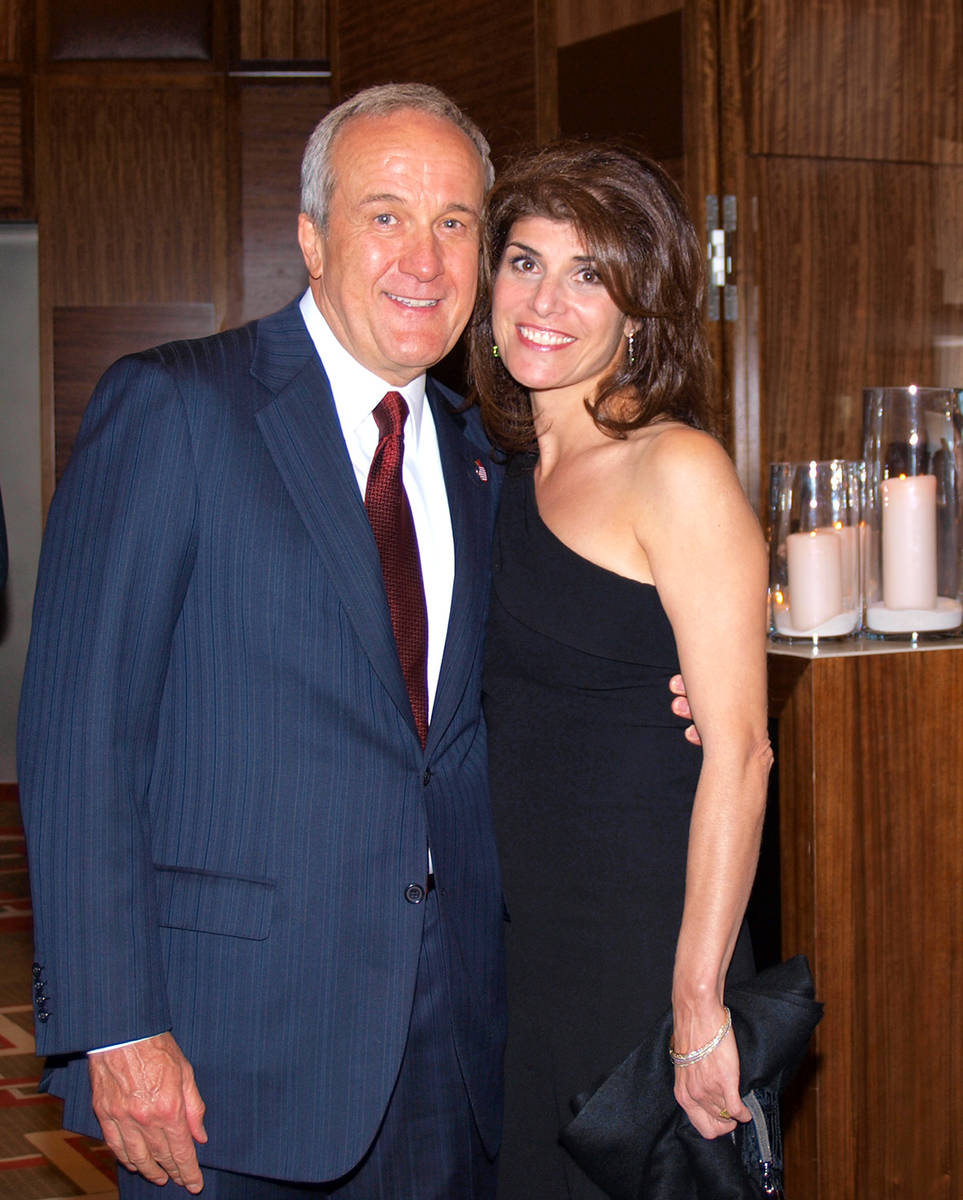 Larry and Camille Ruvo, shown in this undated photo, are being honored in May by the Nevada Bal ...