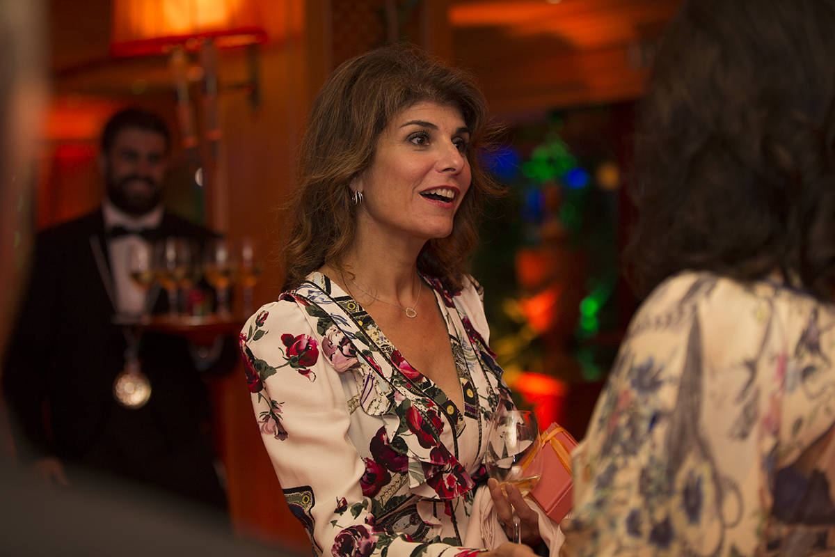 Keep Memory Alive founder Camille Ruvo welcomes guests to the An Italian Affair in Rome, Italy, ...