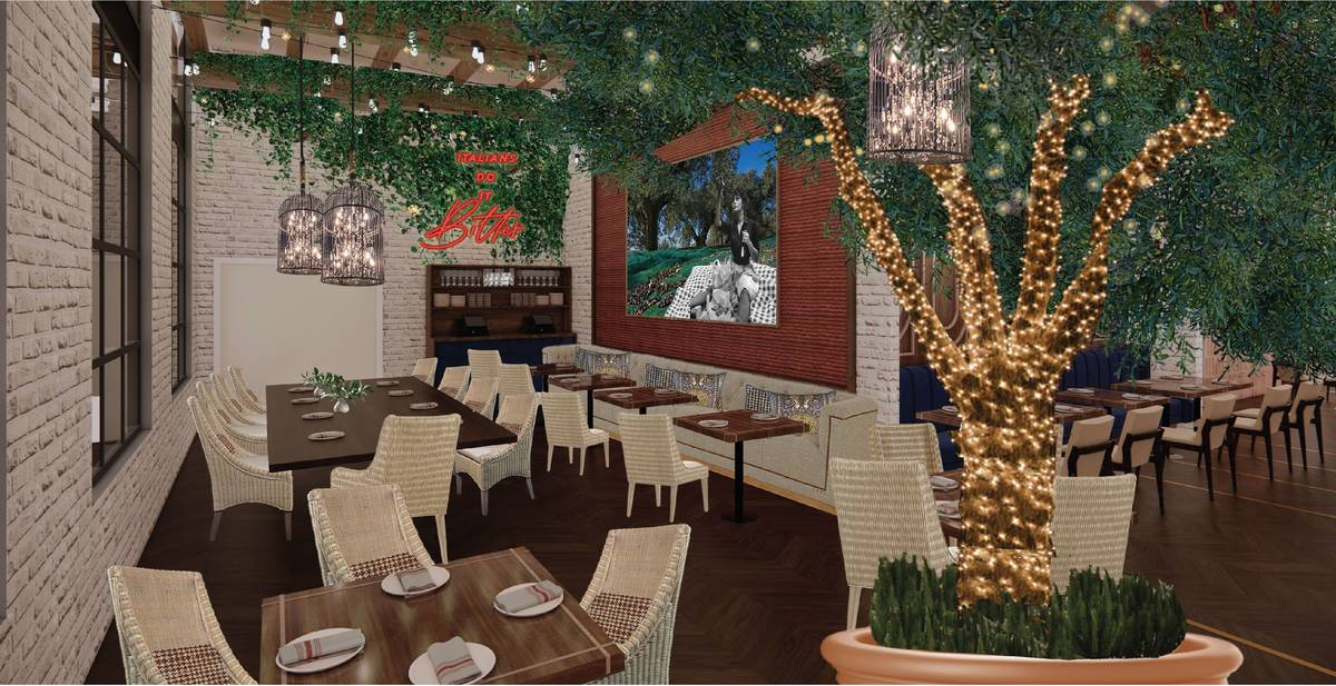 Artist's rendering shows interior of Ballo, which will open sometime this fall. (MC Hospitality)
