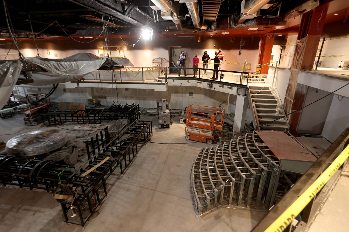 Magic Mike Live Theater under construction at Sahara Las Vegas Wednesday, March 10, 2021. &quot ...
