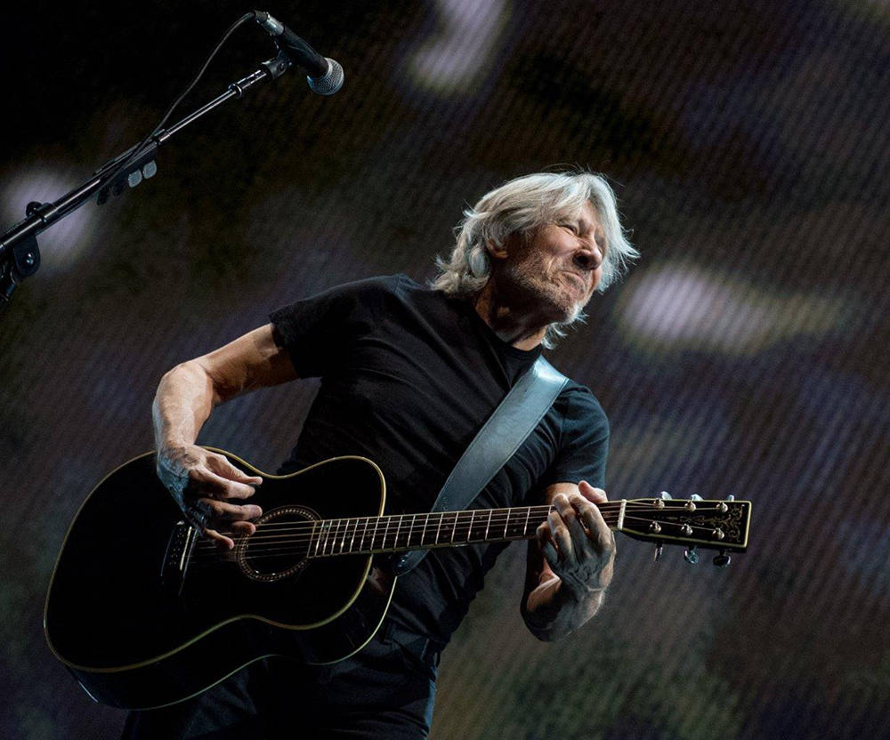 Roger Waters, the co-founder of Pink Floyd, brought his angry Us + Them tour to the T-Mobile Ar ...