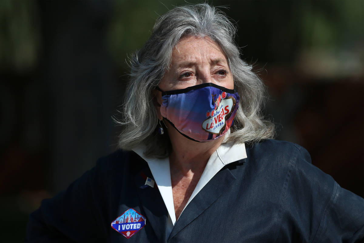 In this Oct. 21, 2020, file photo, U.S. Rep. Dina Titus, D-Nev., is seen at UNLV in Las Vegas. ...