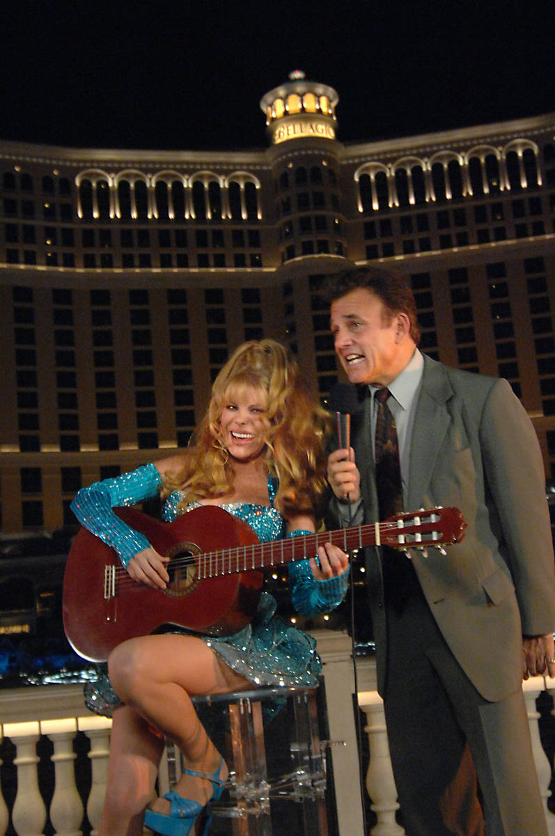 """Tony Sacca joins Charo on Oct. 6, 2008, as she played from her newest album, """"Espaa Cai,"""" in fr ..."""