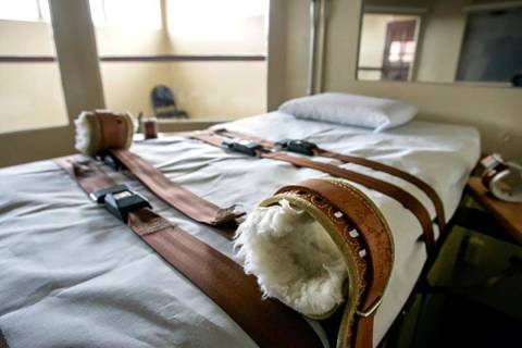 Execution chamber at the Nevada State Prison in Carson City (Special to the Las Vegas Review-Jo ...