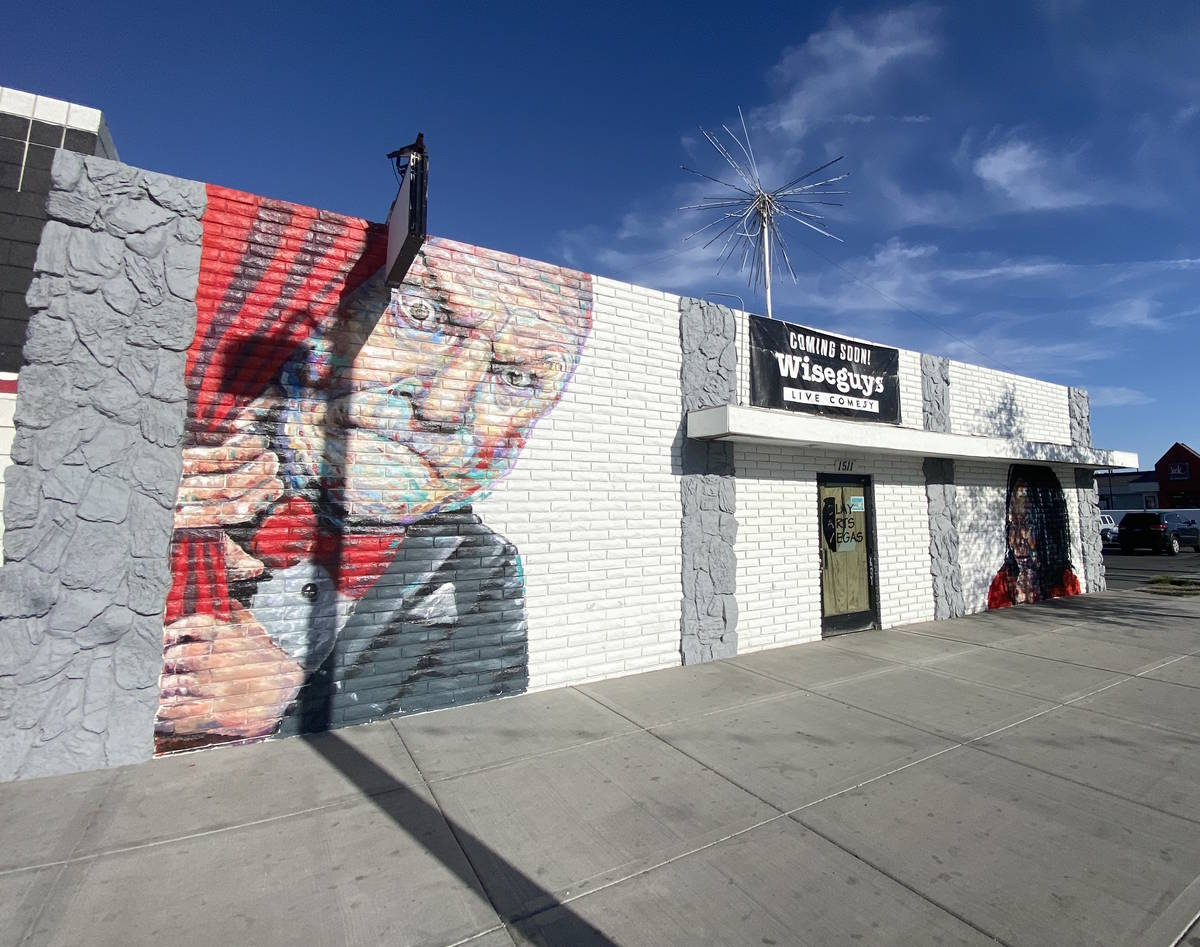 A look at the entrance of Wiseguys Comedy Club in the Arts District at 1511 South Main Street. ...