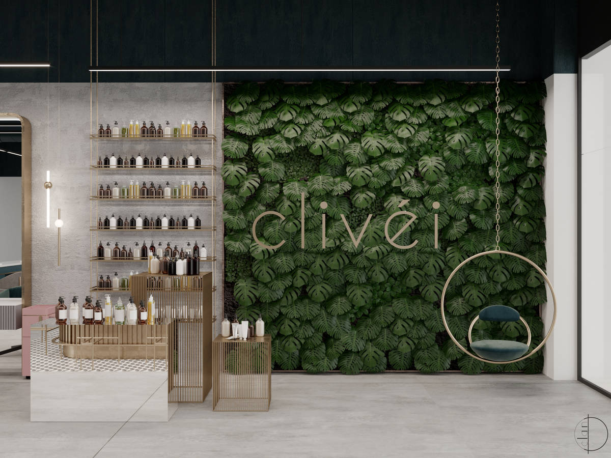 A rendering of the Clivéi Beauty Salon location planned to open this summer at Resorts World L ...