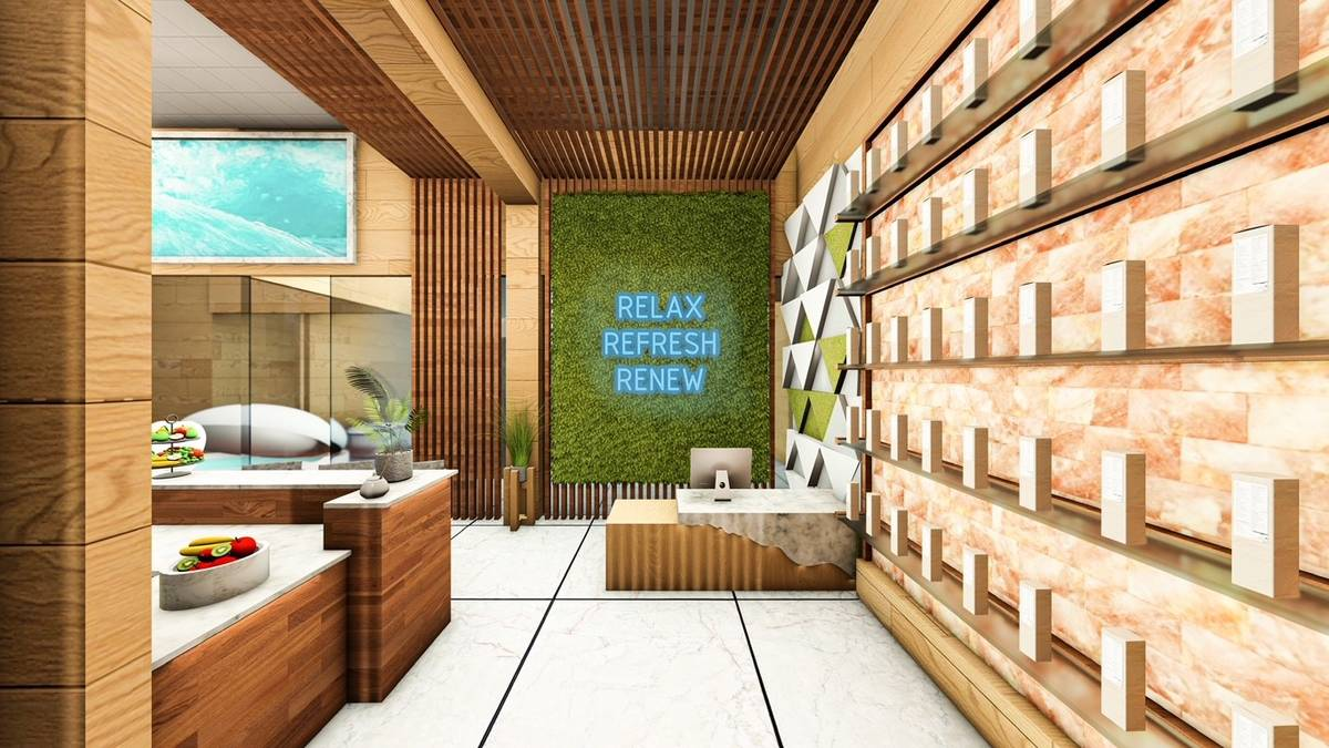 A rendering of the Dr. Refresh location planned to open this summer at Resorts World Las Vegas. ...
