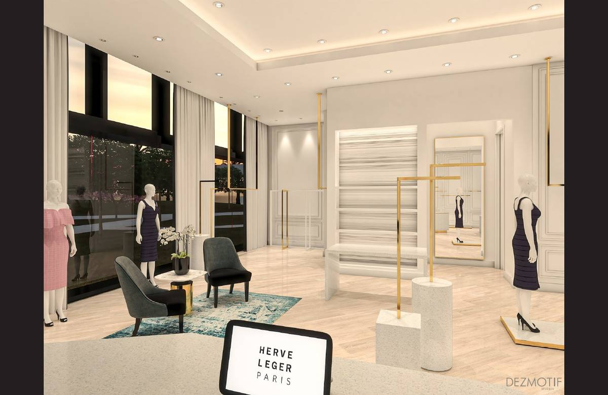 A rendering of the Hervé Léger location planned to open this summer at Resorts World Las Vega ...