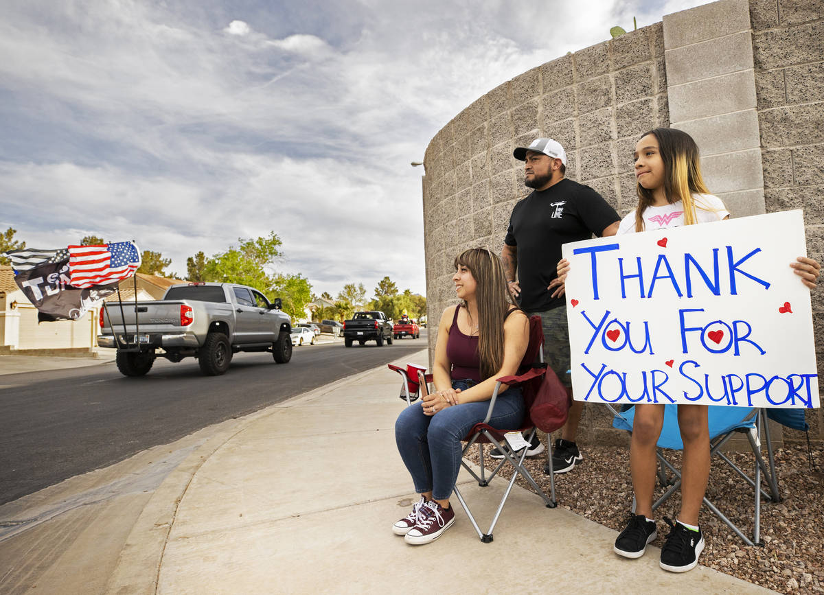 Jacky Velasquez, right, 11, sister of Aaliyah Velasquez, who was hit by a car and severely inju ...