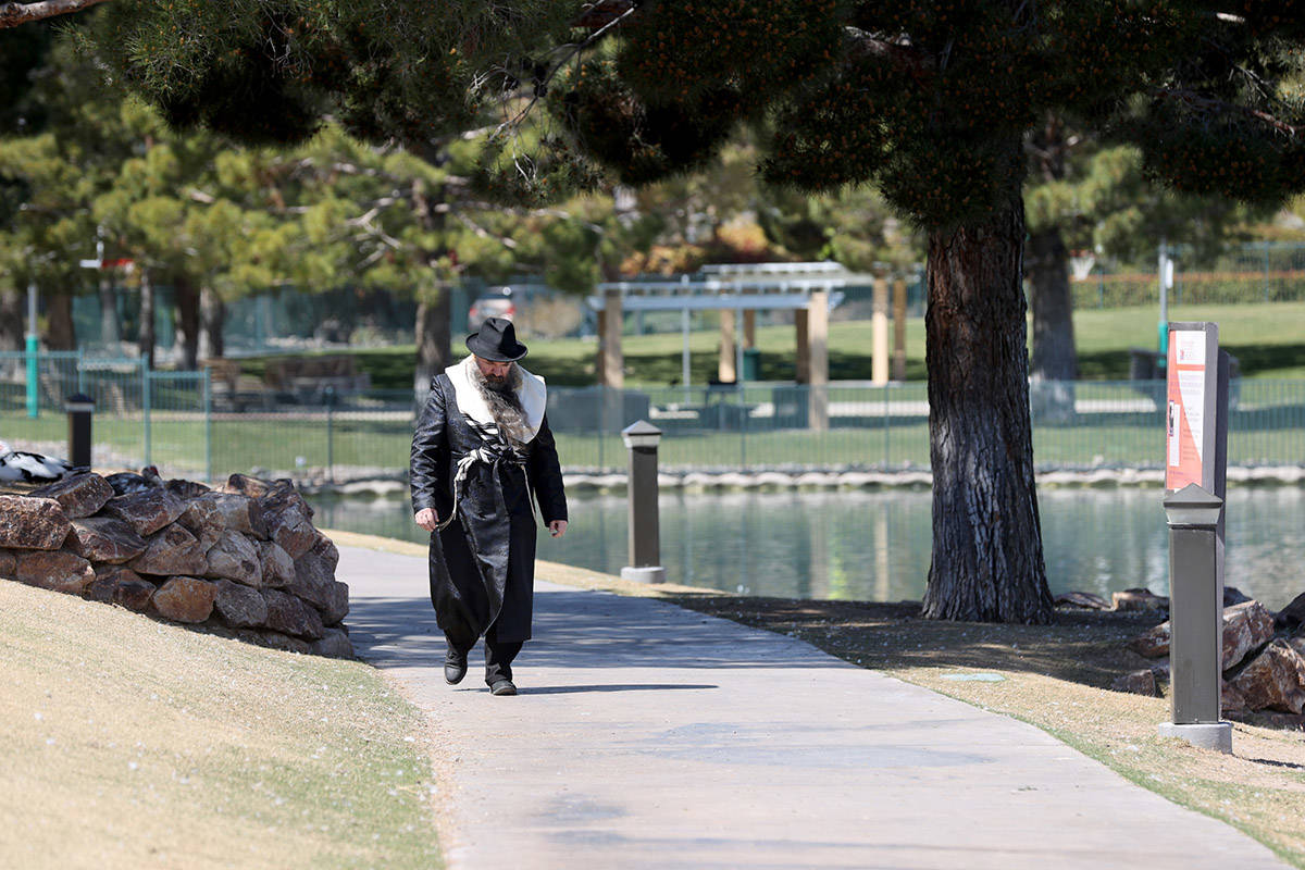 A high of 87 is forecast for Las Vegas on Monday, April 12, 2021, according to the National Wea ...