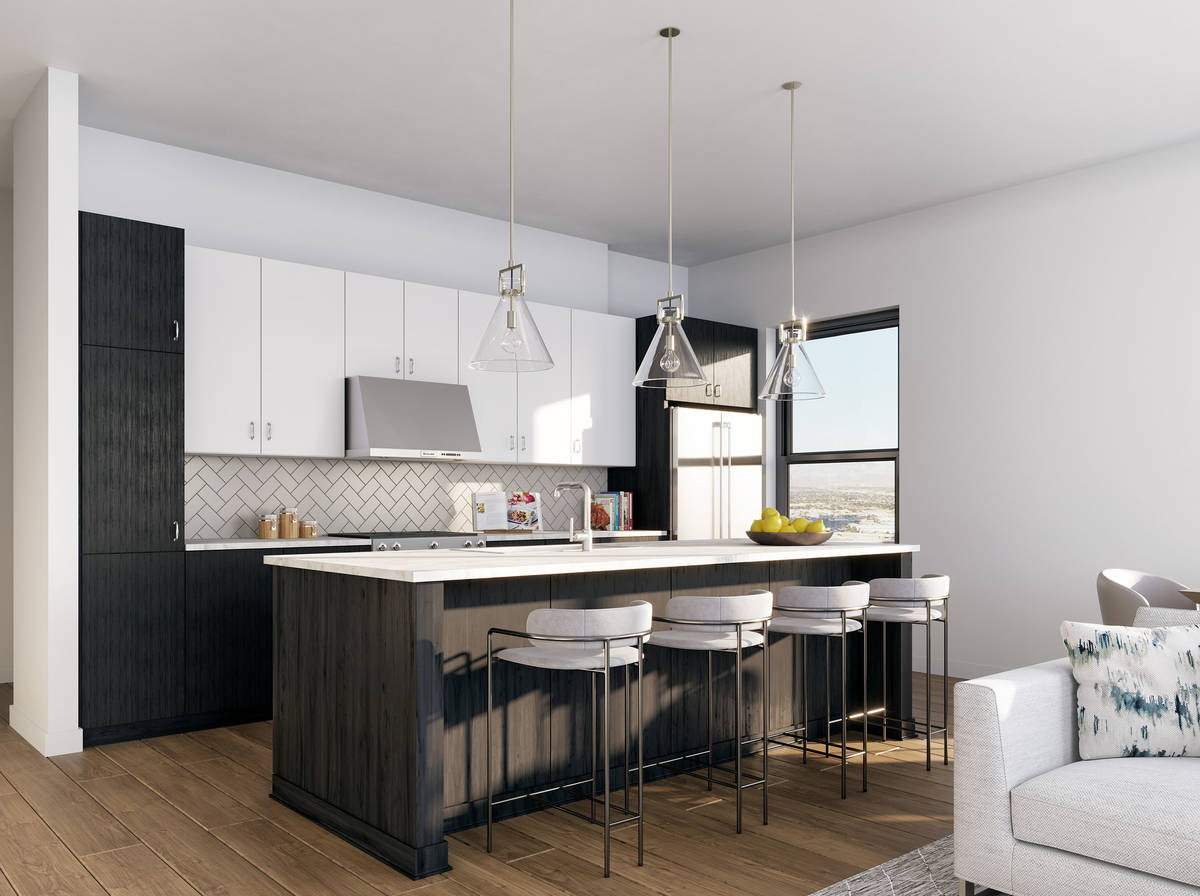 Auric Symphony Park at Symphony Park in downtown Las Vegas are available to rent starting at ju ...