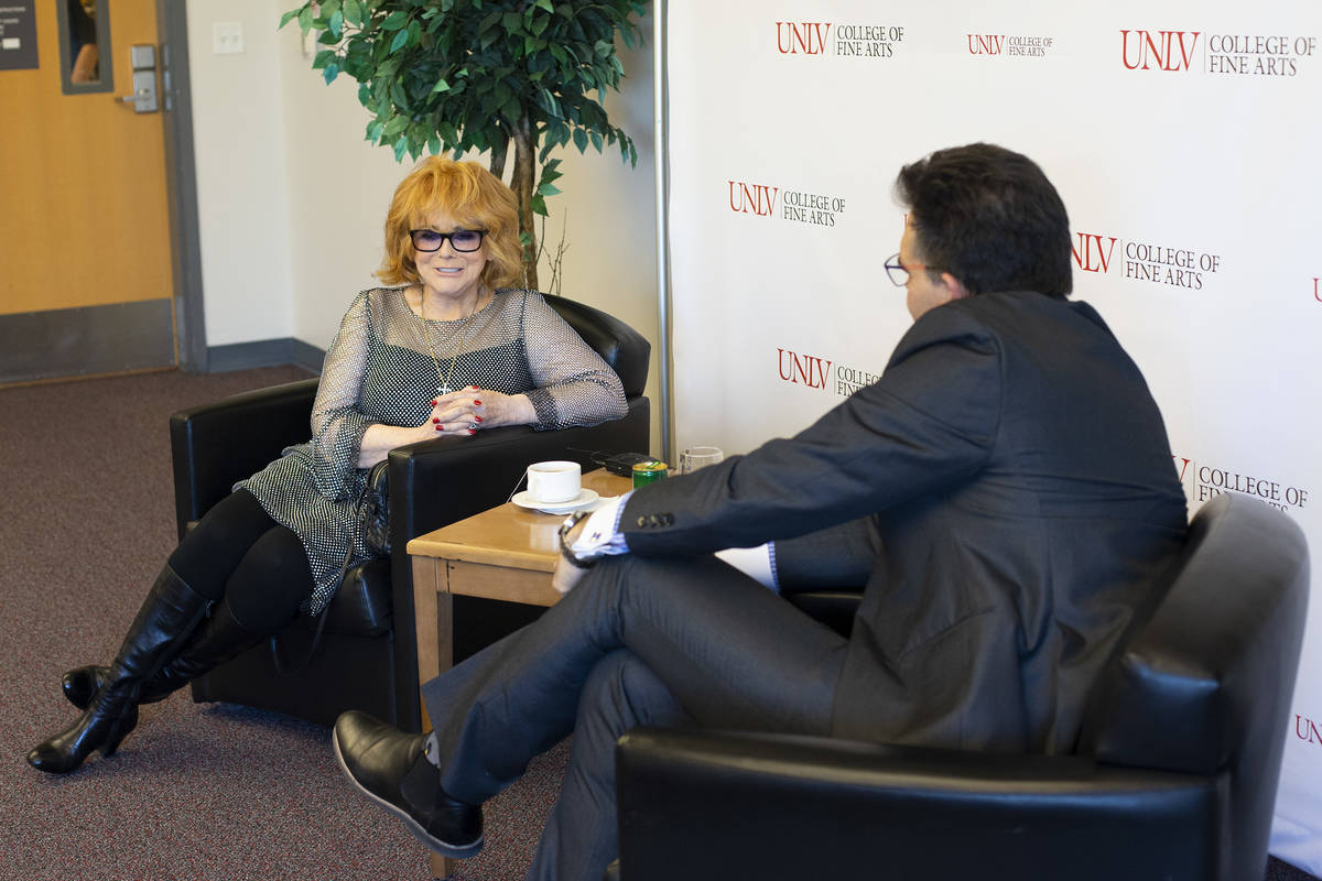 Actress and Hollywood legend Ann-Margret speaks with the Review-Journal's John Katsilometes bef ...