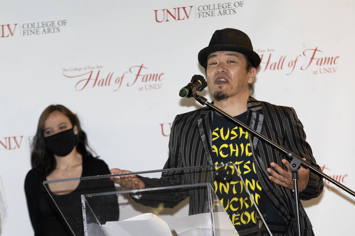 Sush Machida, a Japanese-born, American-based artist, is recognized as Alumni of the Year durin ...