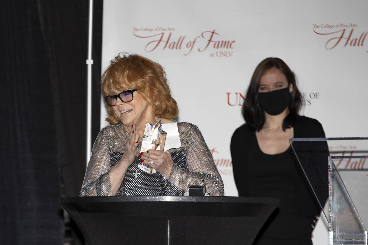 Ann-Margret, an actress and Hollywood legend, is inducted into the 2021 UNLV College of Fine Ar ...