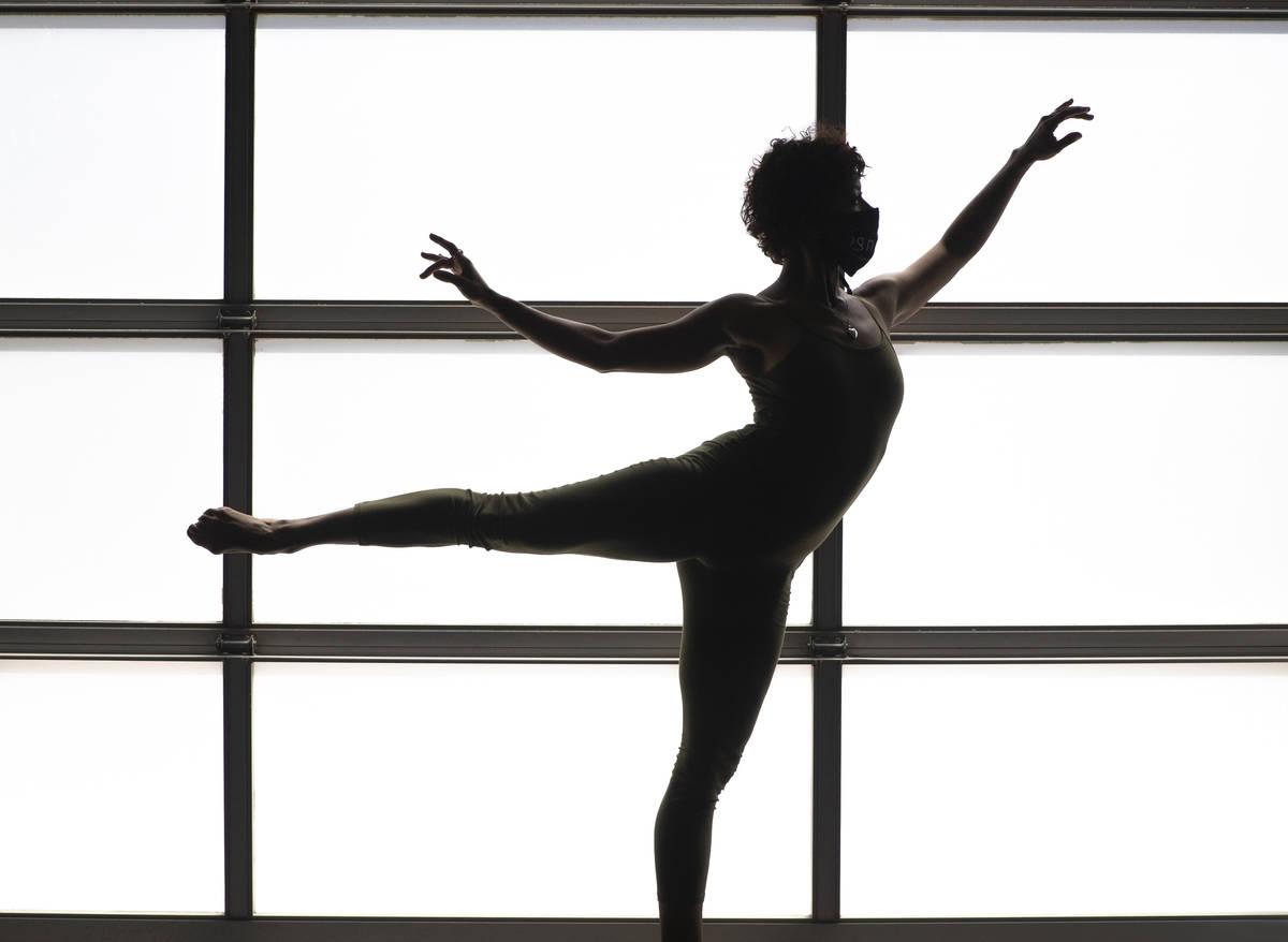 Dancer Tiffany DeAlba, previously with Cirque du Soleil's Beatles Love, rehearses, Thursday, Ap ...