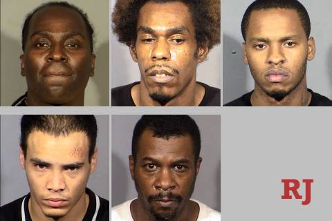 Top row, left-right: Tramell Huff, Jarell Jones and Semaj Spencer. Bottom row, l-r: Patrick Sta ...