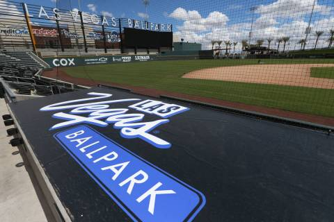 Las Vegas Ballpark in Las Vegas, Thursday, April 9, 2020. (Erik Verduzco / Las Vegas Review-Jou ...