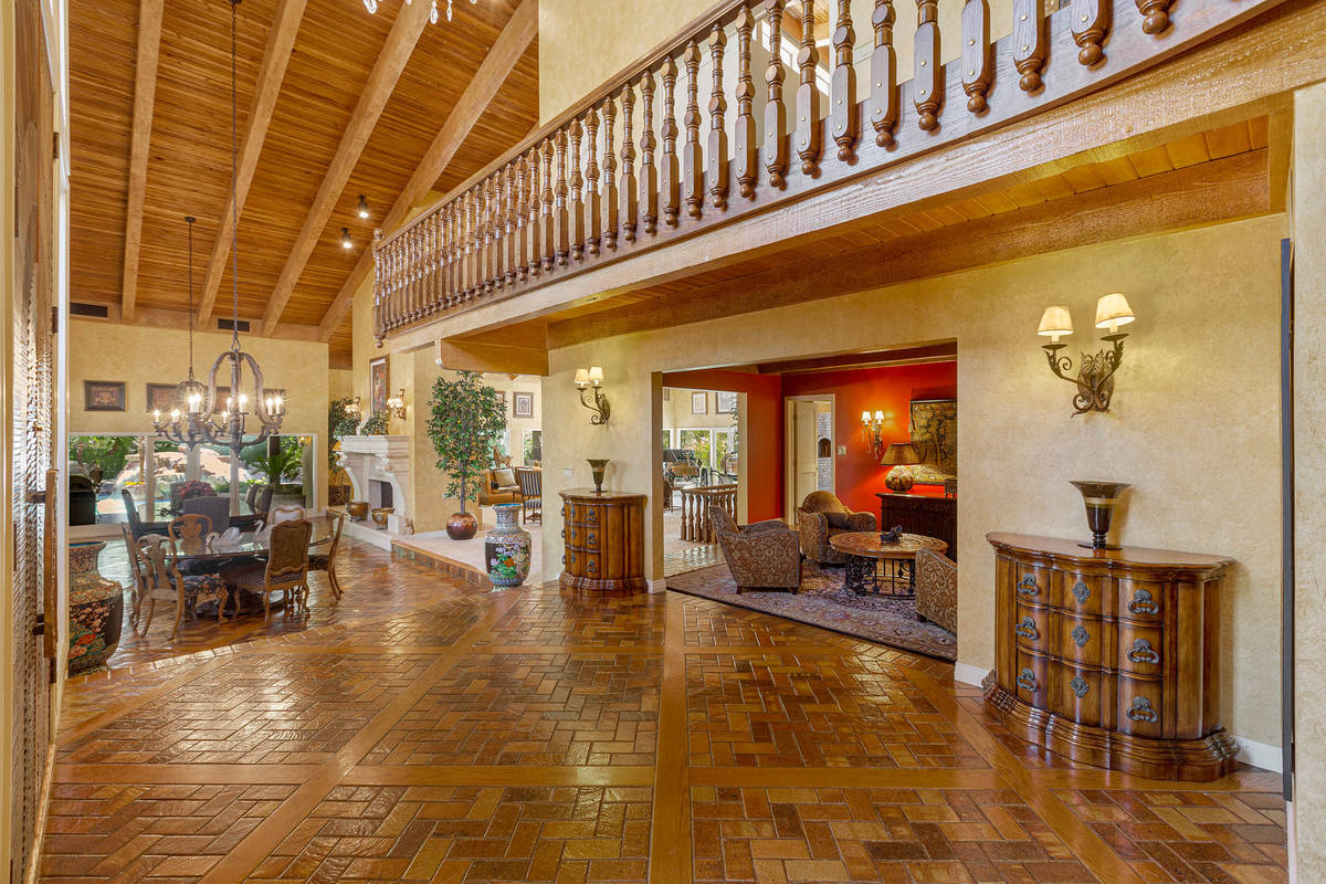 The view from the grand foyer looking into the dining room. (Fraser Almeida/Luxury Homes Photog ...