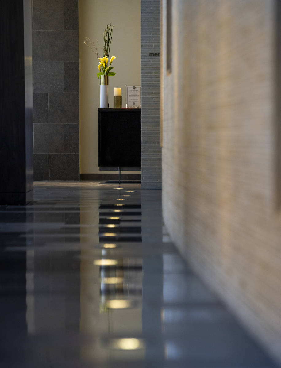 The hallway to the Spa by Well & Being at Red Rock Resort. (L.E. Baskow/Las Vegas Review-Journa ...