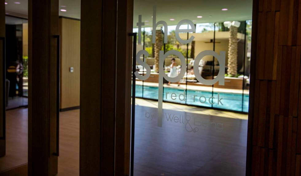 The spa at Red Rock Resort includes access to the private spa pool as well as the gym. (L.E. Ba ...