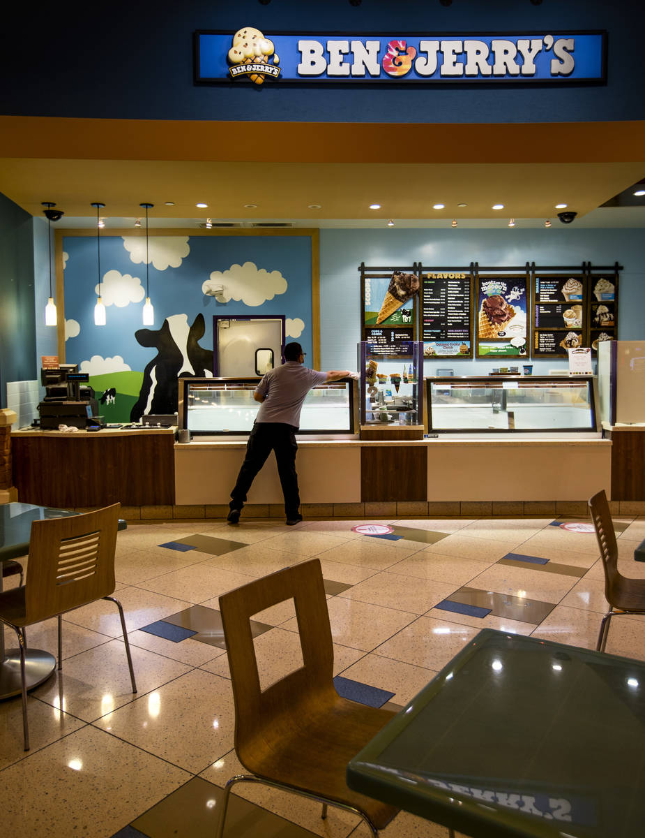 Stop in for a scoop at Ben & Jerry's Scoop Shop in the food court, which has flavors that can ...